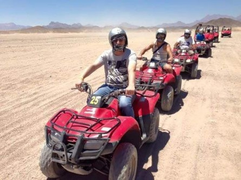 Desert Quad Bike Safari in Hurghada to Bedouin Village