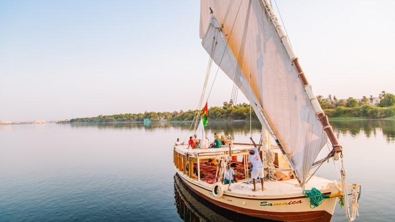 1 NIGHT ASWAN-2 NIGHTS FELUCCA TRADITIONAL SAILING BOAT-1 NIGHT LUXOR